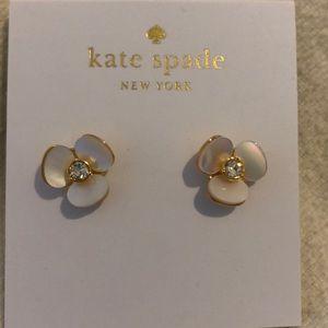 Kate Spade Disco Pansy Flower Stud Earrings NWT